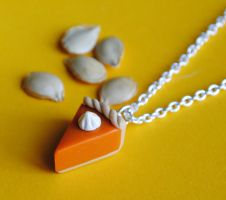 NEW Pumpkin Pie Necklace by ClayConnections