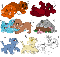 Lion Cub Adopts by IceHeartTheWarrior