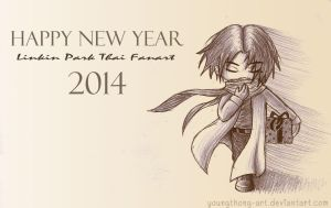 LP : HAPPY NEW YEAR 2014 by youngthong-art