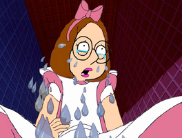 Meg Griffin as Alice crying by darthraner83