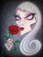Albino Rose by natalievonraven