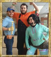 Bearded Wreck-It Ralph Trio 3 by Linksliltri4ce