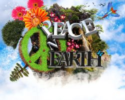 Peace on Earth 3D Typography and Graphic Design by Tavez-Aymer