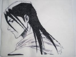 Cross stitch Byakuya by aionisvantis