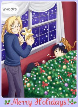 FMA: Holiday Card - Royed Style by TheMadWoman-Ellie