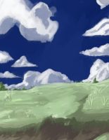 Anime Style Hill Background by wbd