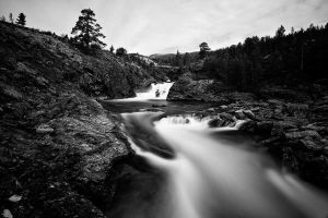 River runs in BlacknWhite by CalleHoglund