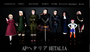 Hetalia German-speaking nations by MentaLilnes