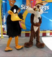 Daffy and Wile E. Coyote by Brittastic174