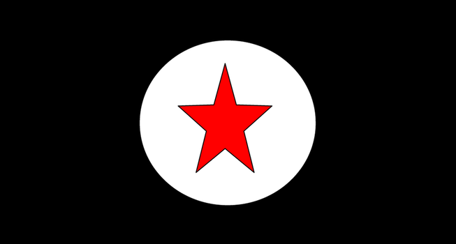 Anarchist flag of Korea and Japan by RoboticAnarchist