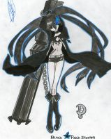 Black Rock Shooter (Coloured) by QuarterVonLoeweQueen