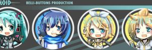 Vocaloid +buttons+ by jinyjin