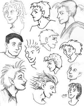 People Sketch Collection by Wereducky