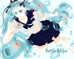 Bottle Miku by tochican2012