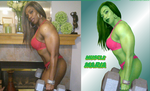 SENSATIONAL Muscle Maria She-Hulk by zenx007