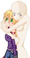Hugging the Kai Girl-collab by BeybladerSteph-chan
