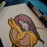 The Girl on Fire - Marker Sketch by perdita00