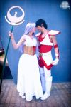A Goddess and her knight by AiridAndKaitoCosplay