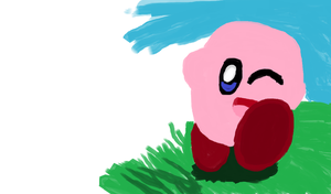 Kirby (ms paint preview 2) by ScootsNB
