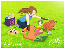 A noisy picnic by Superpluplush