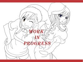 Juvia and Lucy wip by Mimilyn