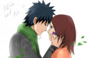 Obito and Rin: Don't cry... by Lesya7