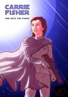 CARRIE FISHER - Rest for The Princess by AtLeastimalive