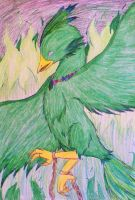 The Emerald Phoenix by DreamPuppeteer