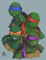 TMNT - Four Brothers by dymira128