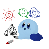 Drawing Blue Kirby by Ro-sa