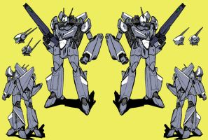 VF-18 Metal Siren (Battroid mode) by Grebo-Guru