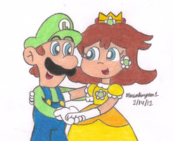 Luigi and Daisy by MarioSimpson1