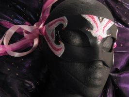 Rosa Principessa Handmade Leather Masquerade Mask by ToTheMask