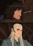 Kili and Thranduil (possible future comic thingy) by Sapphiresenthiss
