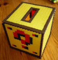 Hama Beads - Mario ? Moneybox by acidezabs