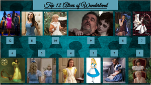 Top 12 Alices of Wonderland by JJHatter