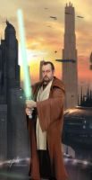 Jedi Master  on Coruscant by cylonka