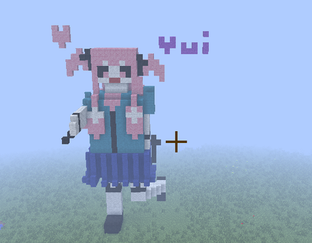 Made Yui In Minecraft by willyoubemystar