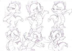 Spike Doodles by sherwoodwhisper