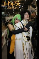 C.C and Emperor Lelouch x1 by Dark-Angel15-2010