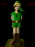 Birthday Gift to MissLuckyChan29 - Ben Drowned by MaxtWolf