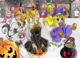 SSBB-Halloweenspecial colo by OwlLisa