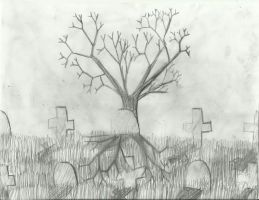 Cemetary Sketch by extreme810