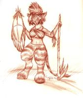 Zebra Faun Sketch by FoxOFWar