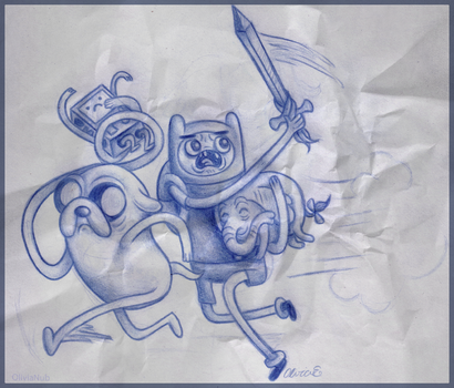 Adventure Time with Frank and Jack by OliviaNub