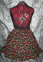 Very Cherry Ruffle Skirt by SeraphimFeathers