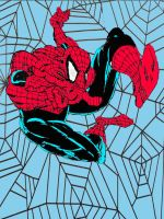 Spider-Man: Todd MacFarlane Style coloured by stick-man-11