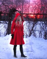 Red Riding Hood Coat - Outside by ThreeRingCinema