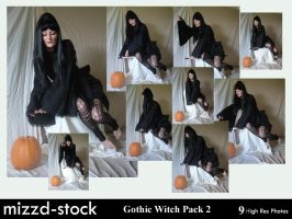 Gothic Witch Pack 2 by mizzd-stock