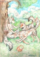 Picnic with wolf by KekPafrany